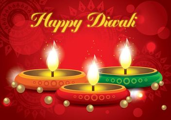 Happy Diwali Vector - vector gratuit #149811