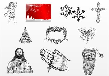 Christmas Design Pack - Free vector #149941