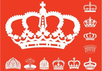 Crowns Silhouettes Set - vector gratuit #150081