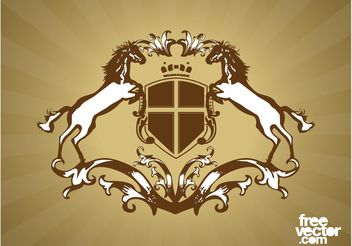 Coat Of Arms Design - vector gratuit #150121