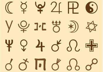 Alchemy Symbols Set - Free vector #150161