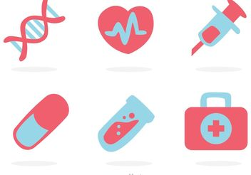 Medical Flat Icons Vector - бесплатный vector #150171
