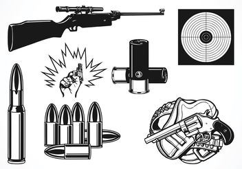Free Vector Shooting Set - Kostenloses vector #150181