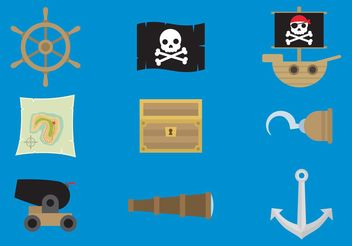 Pirate Vector Icons - бесплатный vector #150191