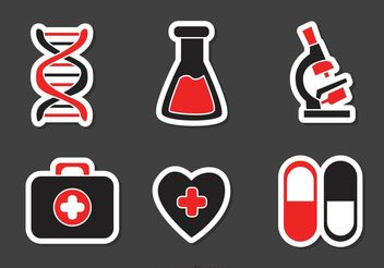 Set Of Medical Icons Vector - Free vector #150211