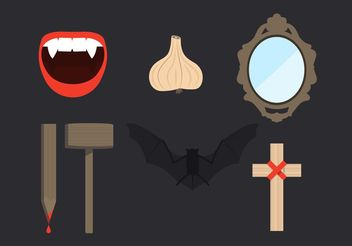 Dracula Elements Vector Set - Free vector #150241