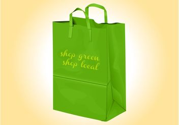 Green Shopping Bag - vector gratuit #150261