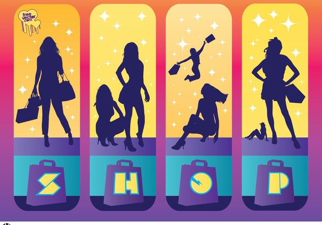 Shopping Girls - Free vector #150271