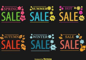 Seasonal Hot Sale Vector Signs - бесплатный vector #150301