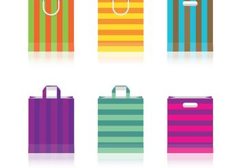 Colored Paper Bag Vectors - vector gratuit #150341