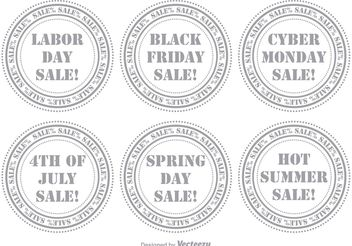 Sale Stamp Set - vector gratuit #150371