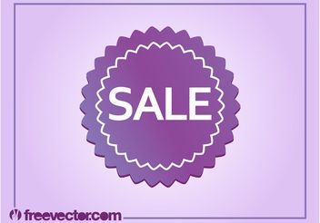Sale Badge Vector - vector gratuit #150421