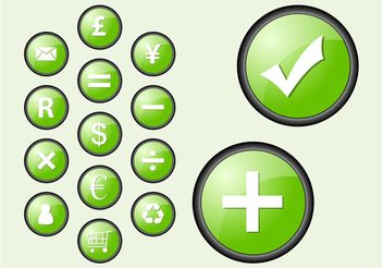 Green Icons - vector #150451 gratis