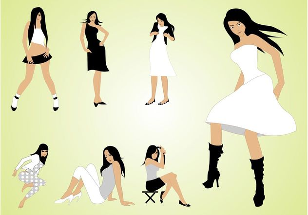 Fashion Girls - Free vector #150461