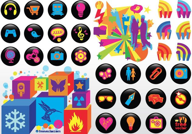 Cool Vector iconos - vector #150471 gratis
