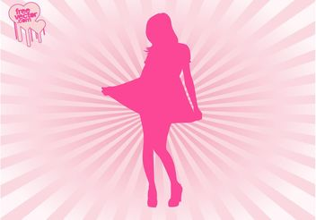 Cute Fashion Girl Vector - Free vector #150531