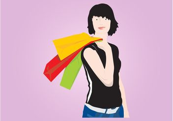 Shopping Woman - vector gratuit #150541
