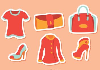 Girl Fashion Vectors Pack 3 - Free vector #150551