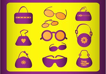 Fashion Accessories Vectors - Free vector #150591