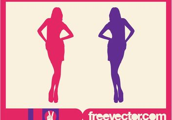 Fashion Pose Vector - Free vector #150601