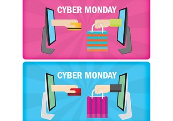 Cyber Monday Banners - Kostenloses vector #150631