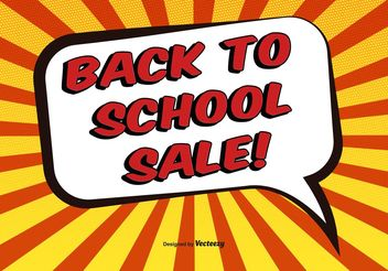 Comic Style Back to School Illustration - Free vector #150661