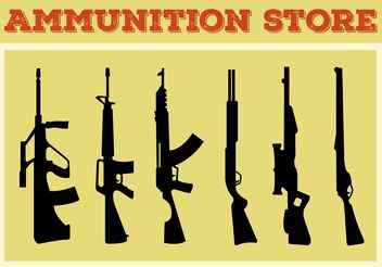 Weapon and Gun Shape Collection - vector gratuit #150761