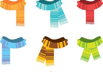 Fringed Neck Scarf Vectors - Free vector #150811