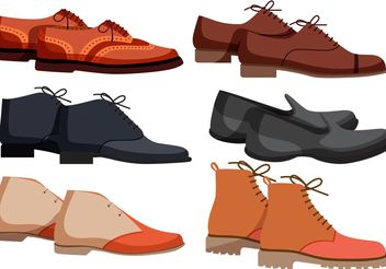 Mens Shoes Vectors - vector gratuit #150821