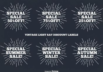 Vintage Label Set - Free vector #150841