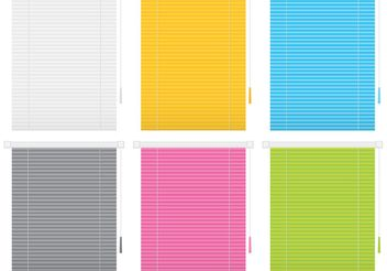 Window Blind Vectors - Free vector #150891
