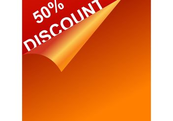 Vector Discount Template - Kostenloses vector #150931