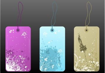Floral Price Tags - Free vector #150981