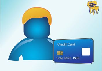 Person With Credit Card - vector gratuit #151001