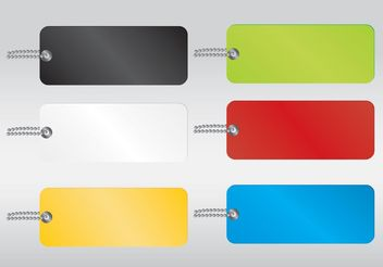 Colored Vector Tags - Free vector #151011