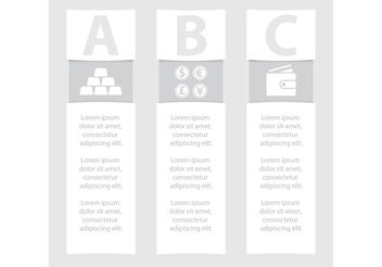 Monochrome Business Vector Banners - vector #151041 gratis
