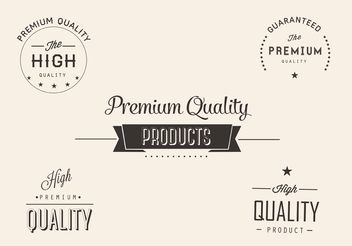 Free Premium Quality Vector Labels - Free vector #151061