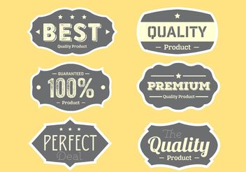 Quality Label Collection - vector gratuit #151071