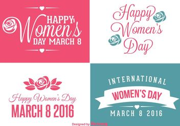 Woman's Day Labels - vector #151111 gratis