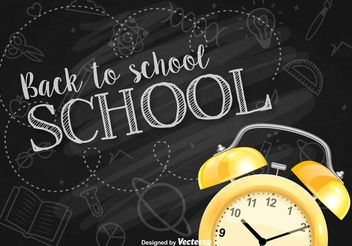 Back to School Background - vector gratuit #151191
