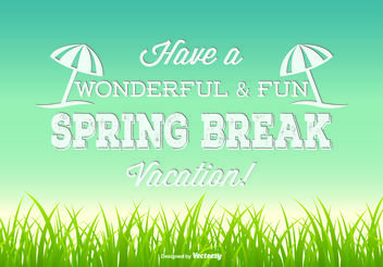 Spring Break Illustration - Free vector #151211