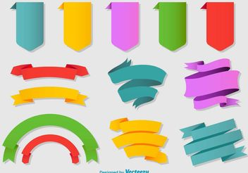 Colorful Flat Ribbons - vector gratuit #151221