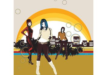 City Girls - vector gratuit #151231