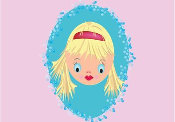 Pretty Doll Face - vector #151361 gratis