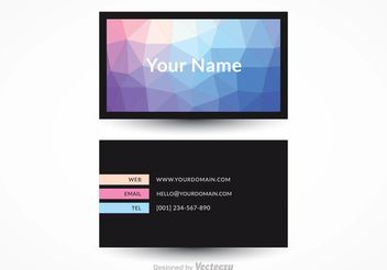 Free Modern Business Card Vector Design - Kostenloses vector #151431