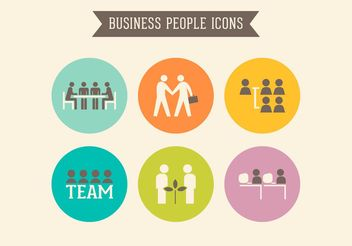 Free Retro Business People Vector Icons - vector gratuit #151461