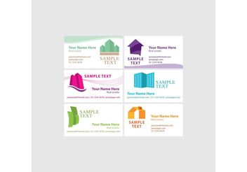 Real Estate Visiting Card Vectors - Free vector #151521