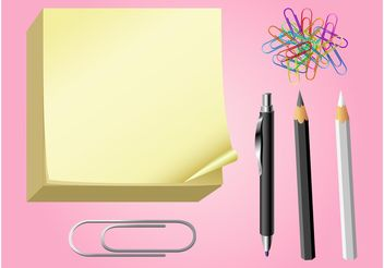 Office Supplies Vector Graphics - Kostenloses vector #151531