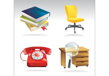 Office Vector Clip Art - vector gratuit #151551