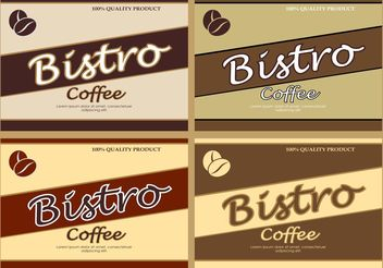 Vector Coffee Backgrounds - vector gratuit #151581